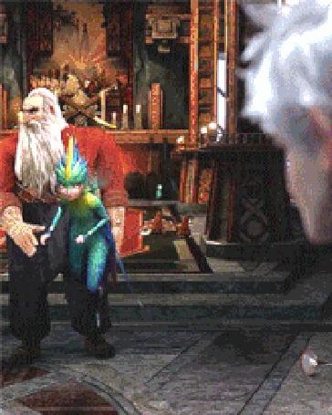 Анимация Зубная фея подлетает к Jack Frost / Ледяному Джеку, мультфильм Rise Of The Guardians / Хранители снов