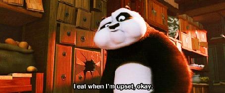 Анимация Панда рассказывает (I eat when im upset okay / я ем, когда я расстроен), мультфильм Kung-Fu Panda / Кунг - фу панда)