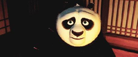Анимация Панда показывает язык, мультфильм Kung-Fu Panda / Кунг - фу панда