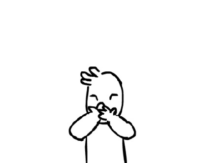 Анимация Рисованный человечек посылает поцелуи