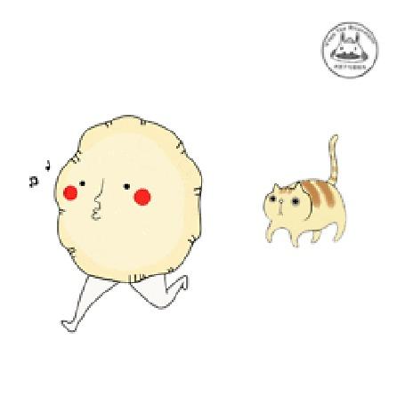 Анимация Кот бежит за непонятным чудом с ногами