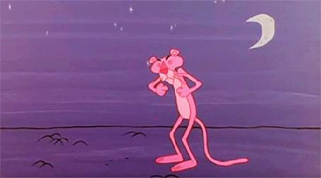 Анимация Розовая пантера зевает, мультфильм Розовая пантера