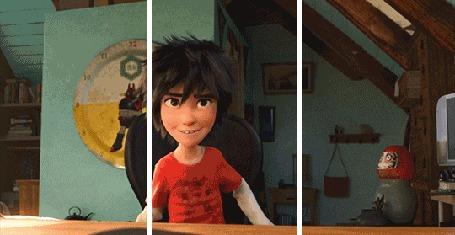 Анимация Hiro Hamada / Хиро Хамада из американского компьютерного анимационного фильма Big Hero 6 / Город героев