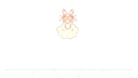 Анимация Прыгающий розовый кролик