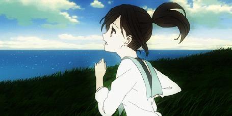 Анимация Саки Ватанабэ / Saki Watanabe из аниме Из нового света / Shinsekai yori