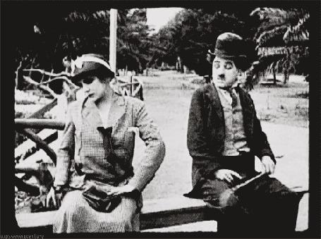 Анимация Легенды немого кино Чарли Чаплин / Charles Chaplin / и Эдна Периэнс / Edna Purviance, фильм ByThe Sea / По морю
