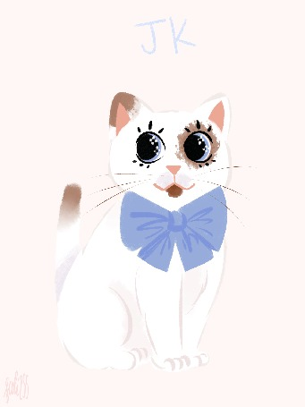Анимация Кошка с мерцающими глазами