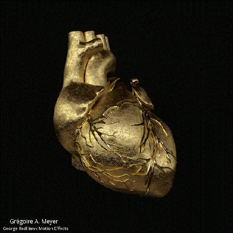 Анимация Золотое сердце, автор Gregoire A. Meyer