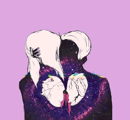 Анимация Биение влюбленных сердец