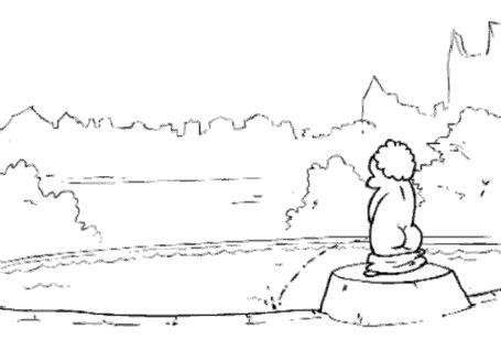 Анимация Русалочка против Писающего мальчика