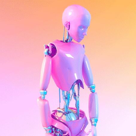 Анимация Робот, так похож на человека, by Kytten Janae