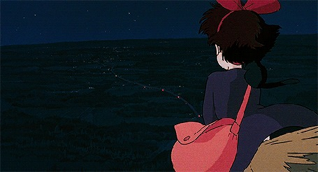 Анимация Kiki / Кики из аниме Kikis Delivery Service / Ведьмина служба доставки летит на метле
