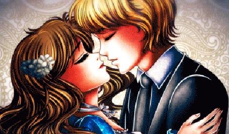 Анимация Tristan and Lili / Тристан и Лили целуются, by galia-and-kitty