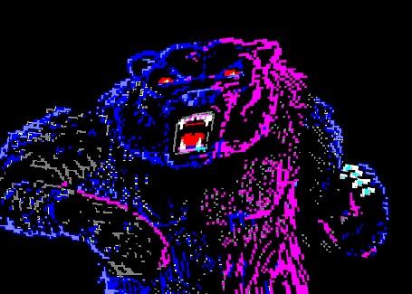Анимация Разноцветный переливающийся медведь