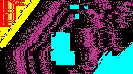 Анимация Разноцветная абстракция помехи