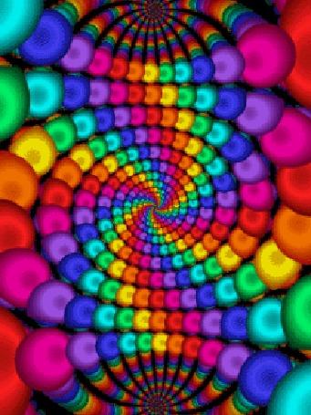 Анимация Психоделическая разноцветная абстракция