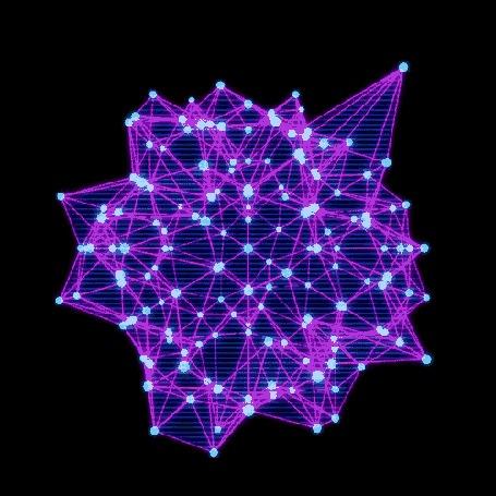 Анимация Розово-голубая абстракция на черном фоне