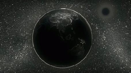 Анимация Медленно вращающаяся планета