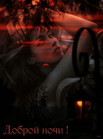 Анимация Девушка на фоне заката, вечерней природы, светящийся фонарь, (Доброй ночи! )
