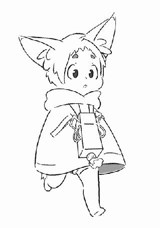 Анимация Милый мальчик с ушками, by ChuuStar