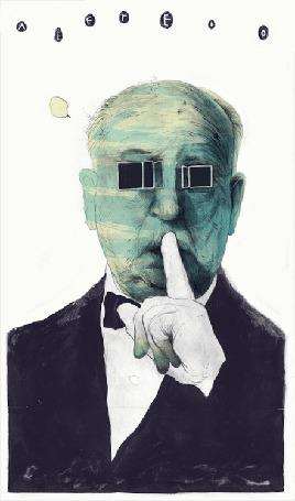 Анимация Hitchcock / Хичкок (Alfred), от немецкого иллюстратора Simоn Prades / Симон Прадес