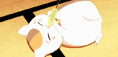 Анимация Nyanko-sensei / Котя-сенсей из аниме Тетрадь дружбы Нацумэ / Natsume Yuujinchou / Natsumes Book of Friends