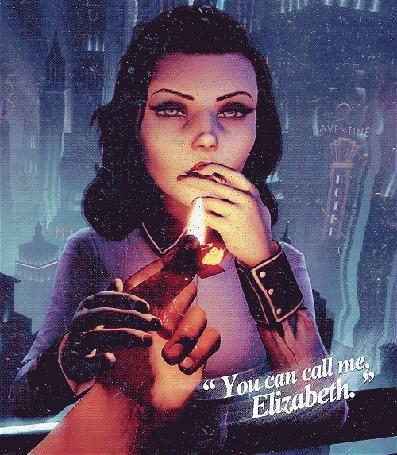 Анимация Элизабет / Elizabeth из игры BioShock Infinite прикуривает сигарету (You can call me, Elizabeth / Ты позвонишь мне, Элизабет)