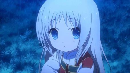 Анимация Кудрявка Номи / Kudryavka Noumi из аниме Маленькие проказники! / Little Busters!