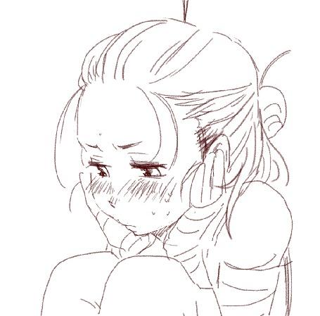 Анимация Моргающая рисованная девочка