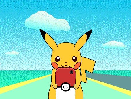 Анимация Pikachu / Пикачу из игры Покемон ГО / Pokemon GO