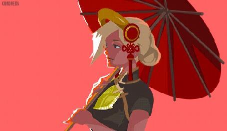 Анимация Mercy / Ангел / Ангела Циглер из игры Overwatch / Дозор
