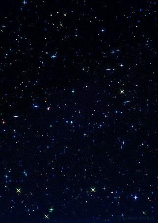 Анимация Ночное звездное небо