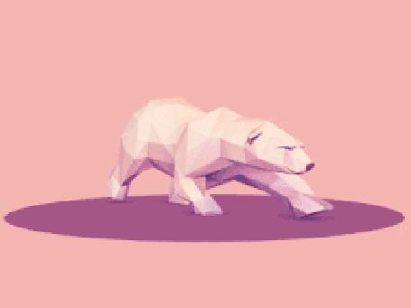 Анимация Бегущий куда - то медведь, by Jona Dinges
