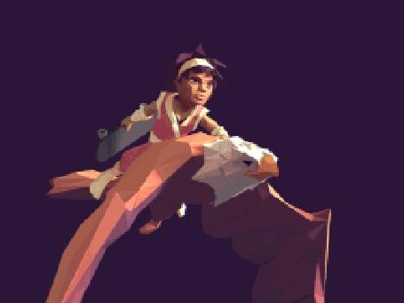 Анимация Летящий в небе огромный орел с наездником, by Eran Mendel