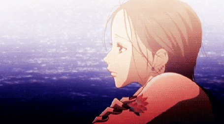 Анимация Nana Osaki / Нана Осаки из аниме Nana / Нана любуется морем