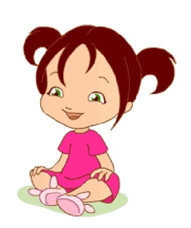 Анимация Маленькая девочка безудержно хохочет