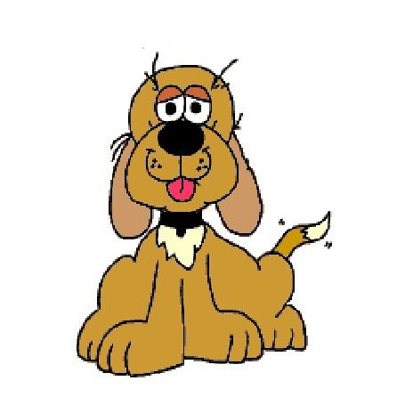 Анимация Собака дарит нам большое сердце