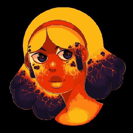 Анимация Яркий портрет девушки