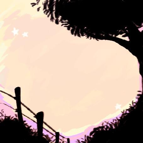 Анимация Падающие звезды на небе