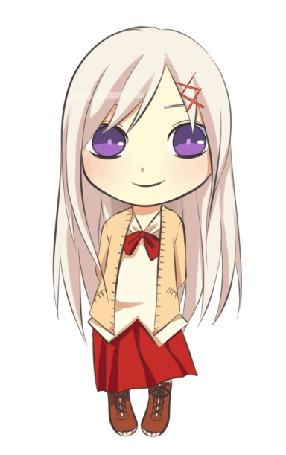 Анимация Светловолосая девушка с сиреневыми глазами, by natto-ngooyen