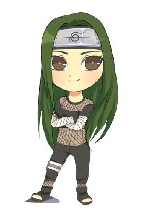 Анимация Зеленоволосая девушка в черном костюме, by natto-ngooyen