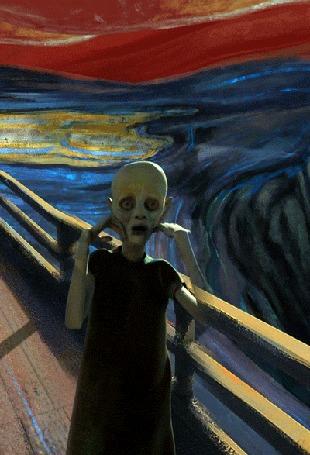 Анимация Фантазия на тему картины Эдварда Мунка Крик