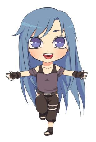 Анимация Синеволосая девушка с синими глазами, by natto-ngooyen