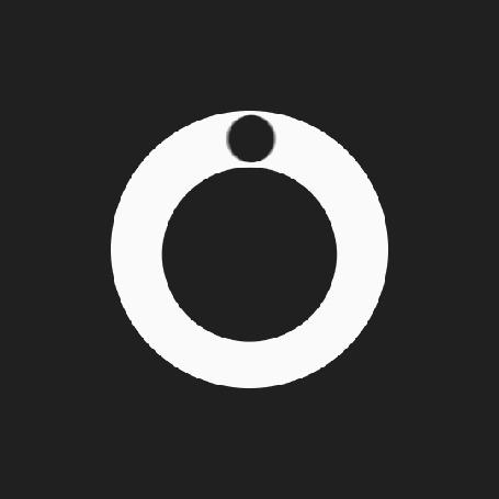 Анимация Вращающиеся шары на черном фоне