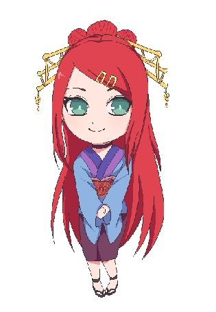 Анимация Рыжеволосая девушка с зелеными глазами, by natto-ngooyen