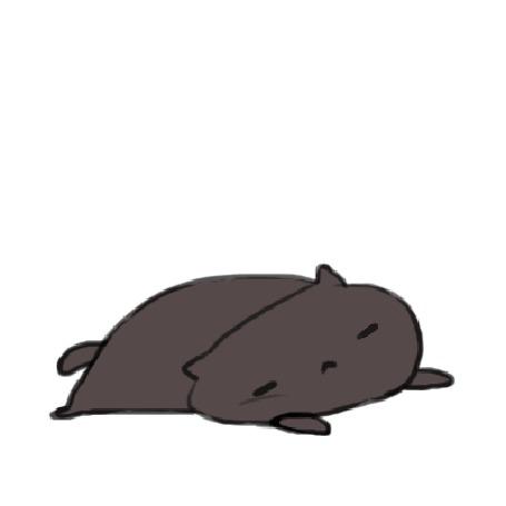 Анимация Через кота перепрыгивает маленький котенок