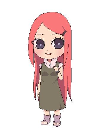 Анимация Kushina Uzumaki / Кусина Удзумаки из аниме Naruto / Наруто, by natto-ngooyen