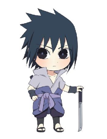 Анимация Sasuke Uchiha / Саске Учиха из аниме Naruto / Наруто, by natto-ngooyen