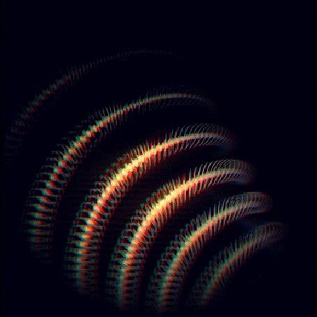 Анимация Появляющаяся спираль на черном фоне