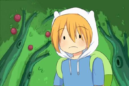 Анимация Финн / Finn из мультсериала Время Приключений / Adventure Time, by natto-ngooyen